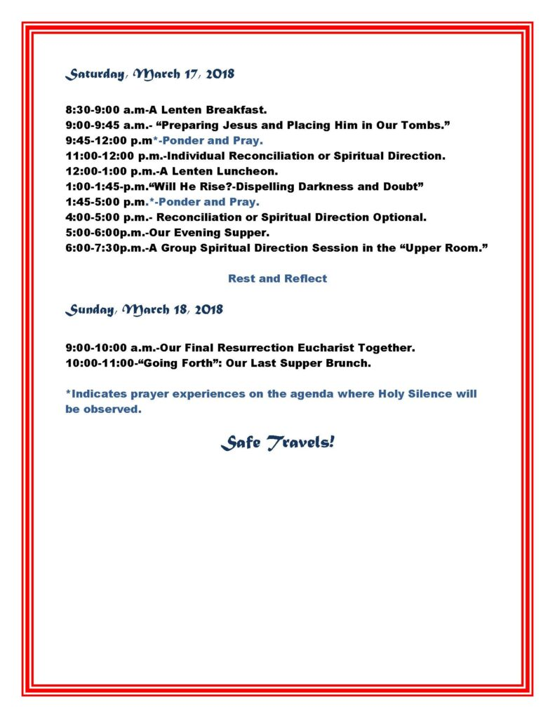 AGENDA for Giving Jesus Your Heart-a Spiritual Transplant Weekend_Page_2